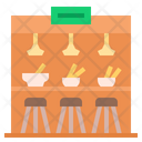Cafeteria Meal Dining Food Cafe Restuarant Canteen Icon