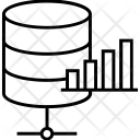 Bar Graph Database Icon