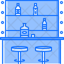 Bottle Glass Chair Icon