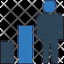 Bar Chart Human Graph Icon