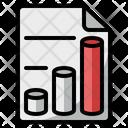 Sheet Bar Chart Graph Icon