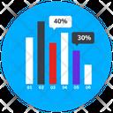 Bar Chart Statistics Infographic Icon