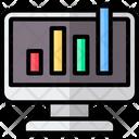Business And Finance Bar Chart Data Analysis Icon