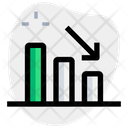 Bar Chart Down Bar Chart Bar Graph Icon