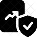 Bar Chart Paper Shield Icon