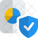 Bar Chart Paper Shield Analysis Report Shield Secure Analysis Icon