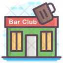 Bar Club Building Icon