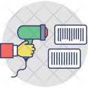 Barcode Scan Magnifying Icon