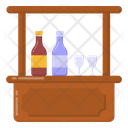 Beverages Counter Bar Counter Beverages Table Icon