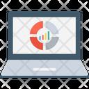 Bar Graph Laptop Online Graph Icon