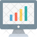 Bar Graph Growth Graph Monitor Icon