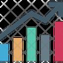 Bar Graph Progress Chart Infographics Icon