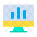 Monitor Bar Graph Analysis Icon