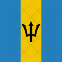 Barbados Flag World Icon