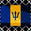 Barbados Flag Country Icon