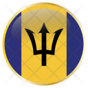 Barbados National Flag Icon