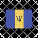 Barbados Bb Flag Country Icon
