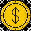 Barbados Dollar Coin Money Icon