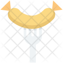 Barbecue Fork Sausage Icon
