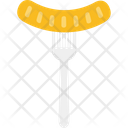 Barbecue Bratwurst Food Icon