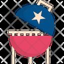 Barbecue Food Usa Icon
