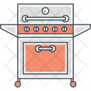 Barbecue Grill Party Icon