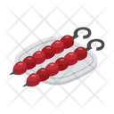 Barbecue Grilled Kebab Icon