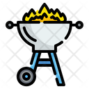 Barbecue Grill Summertime Icon
