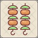 Barbecue Kebab Sticks Icon