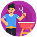 Barbecue Barbecue Grill Cooking Meal Icon