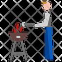 Barbecue Man Icon