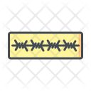 Barbed Cable Safety Icon