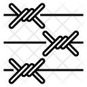 Barbed wire fence Icon