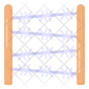 Wire Fence Palisade Barbed Wires Icon