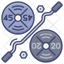 Weight Plates Powerlift Icon