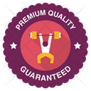 League Competition Logo Barbel Gym Badge Barbel Label Icon