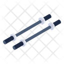 Barbell Rods Fitness Equipment Fitness Machine Icon