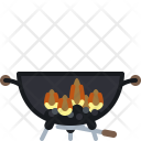 Barbeque Barbecue Burning Icon