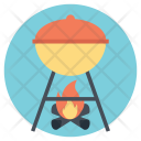 Barbeque Grill Camp Icon