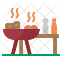 Barbeque Grill Cooking Icon