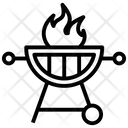 Barbeque Grill Grate Icon