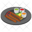 Barbeque Kebab Bbq Stick Grilled Meat Icon