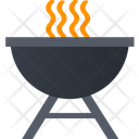 Barbeque Pot Barbeque Party Icon