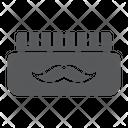 Barber Gel Mustache Icon