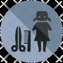 Women Hairdresser Barber Icon