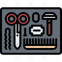 Scissors Hairbrush Razor Icon