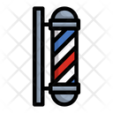 Barber Pole Signboard Noticeboard Icon