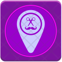 Geo Point Cut Icon