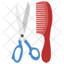 Comb And Scissor Hairdressing Tool Hair Setting Icon