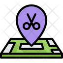 Barbershop location Icon